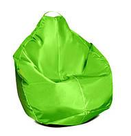 Салатовое кресло-мешок груша 100*75 см из ткани Оксфорд