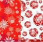 """Silken д 3-сл. """"Новорічні Кулі-Сніжинки"""" пурпурні с печатью 20шт 33*33см (шт.), фото 2"""
