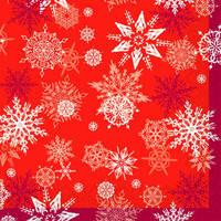 """Silken д 3-сл. """"Новорічні сніжинки"""" червоні с печатью 20шт 33*33см (шт.), фото 2"""