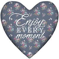 Декоративная подушка сердце Enjoy every moment