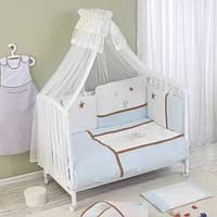 Постельный комплект в кроватку Nino Gatito Blue- 6 предметов