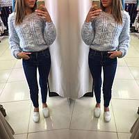 Женский стильный свитер-коса травка (3 цвета)