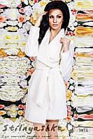 Женское кашемировое пальто молоко, фото 1