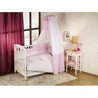 Постельный комплект в кроватку Nino Elefante pink - 6 предметов