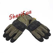 Перчатки тактические Mechanix Wear M-Pact 3  с пластиковыми костяшками Olive