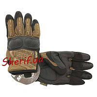Перчатки тактические Mechanix Wear M-Pact 3  с защитой  костяшек  Coyote