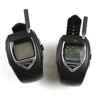 Комплект из 2-х раций Walkie Talkie в виде часов дальностью связи до 1000 метров и временем работы в режиме ра