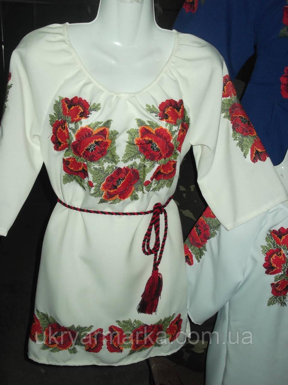 """Жіноча вишивана блузка """"Маки"""""""