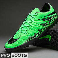 Сороконожки Nike Hypervenom Phelon II TF Green Strike/Black-Volt