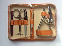 Маникюрный дорожный набор GLOBOS 710-8N orange