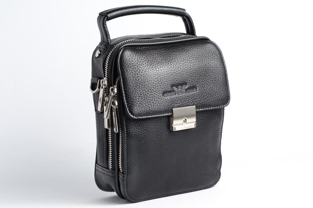 Кожаная мужская сумка Giorgio Armani 8854-2