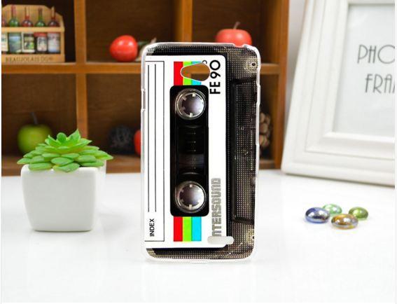 Чехол для LG L70/D325 панель накладка с рисунком кассета