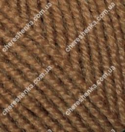 Нитки Alize Superlana Klasik 137 табачно коричневый