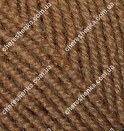 Нитки Alize Superlana Klasik 137 табачно коричневый, фото 2