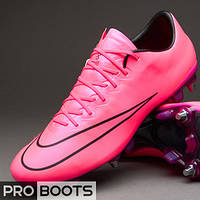 Футбольные бутсы Nike Mercurial Vapor X SG Pro Hyper Pink/Hyper Pink-Black-Black