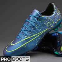 Футбольные бутсы Nike Mercurial Vapor X FG Squadron Blue/Black/Volt