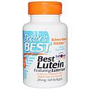 Лютеин натуральный чистый 20 мг 60 капс витамины для глаз  Doctor's Best USA, фото 2