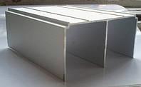 Направляющий верхний двойной алюминиевый профиль для раздвижных систем. Модель А104