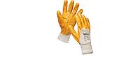 Перчатки рабочие нитриловые желтые