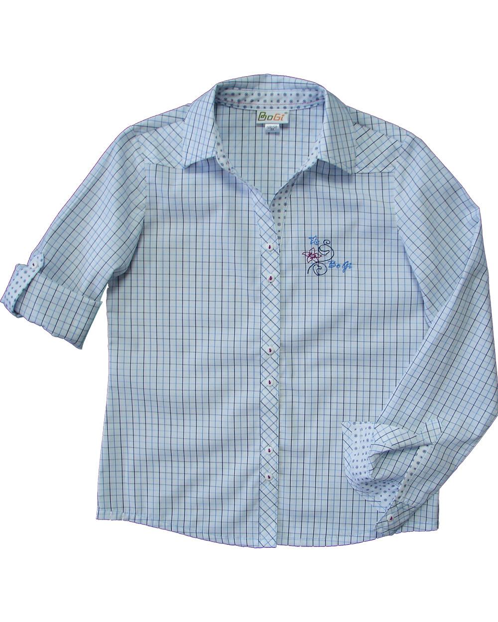 Сорочка для дівчинки,  біла в клітинку, регулюваний рукав,  BOGI (Божі)