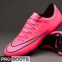 Детские футбольные бутсы Nike Mercurial Vapor X FG Junior Hyper Pink/Hyper Pink-Black-Black