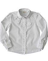 Сорочка для дівчинки,  біла, рюшечки BOGI (Божі), фото 1