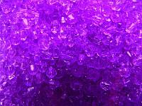 Бусина биконус фиолетовые