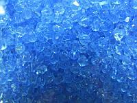 Бусина биконус голубые