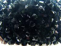 Бусина биконус черные