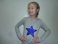 Реглан с пайетками звезда, фото 1