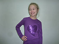 Фиолетовый топ с пайетками сердце