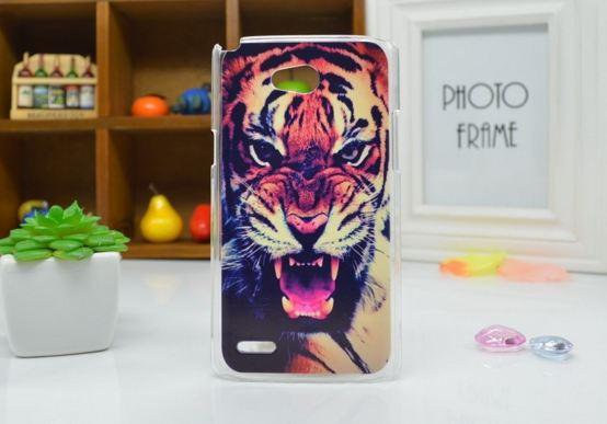 Чехол для LG L80/D380 панель накладка с рисунком тигр
