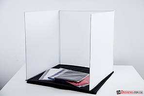Переносная световая палатка 60 x 60 x 60 см + 4 фона (белый, красный, синий, черный) (58014)