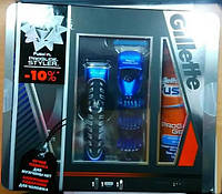 Набор для бритья Gillette Fusion ProGlide Styler 3 in 1 + гель для бритья Gillette Fusion ProGlide увлажняющий