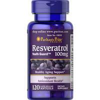 Ресвератрол / Resveratro Puritan's Pride  (100 мг) 120кап.пуританс прайд