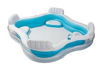 Семейный надувной бассейн Intex 56475 Семейный отдых 229х229х46