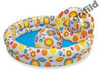 Детский надувной бассейн Intex 59460 + круг + мяч