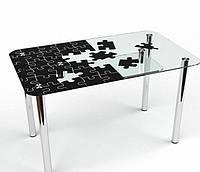 Стеклянный кухонный стол С120