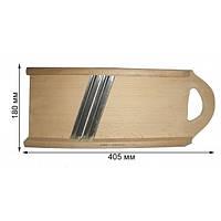 Терка-шинковка деревянная на 2 ножа