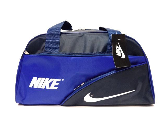 Спортивная сумка Nike (Найк) ярко синяя для спортзала реплика