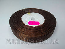Лента органза 15 мм коричневая