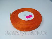 Лента органза 15 мм оранжевая
