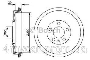 Тормозной барабан (производство Bosch ), код запчасти: 0 986 477 152
