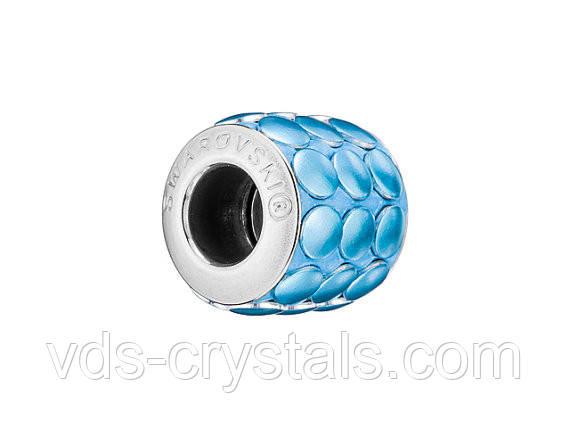 Бусины Pandora от Сваровски 80701 Blue Metallics Brushed