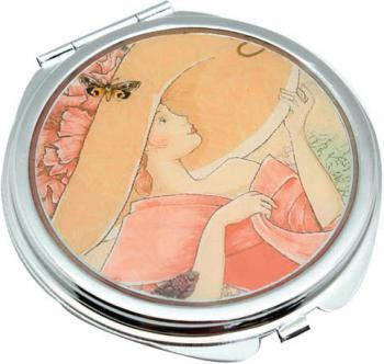 Изящное карманное зеркальце Девушка в шляпке Jardin D'ete HS-24389N