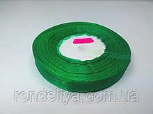 Лента органза 15 мм зеленая
