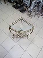 Кованый столик угловой маленький ., фото 1