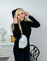 Толстовка с карманами черная, фото 1
