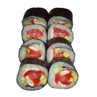 Футомаки креветка,тунец, лосось