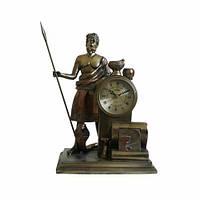 """Часы интерьерные FR-052bt """"Асклепий"""" цвет  бронза 32 см"""